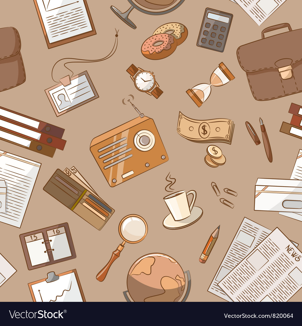 Business theme doodle vintage style vector | Price: 3 Credit (USD $3)