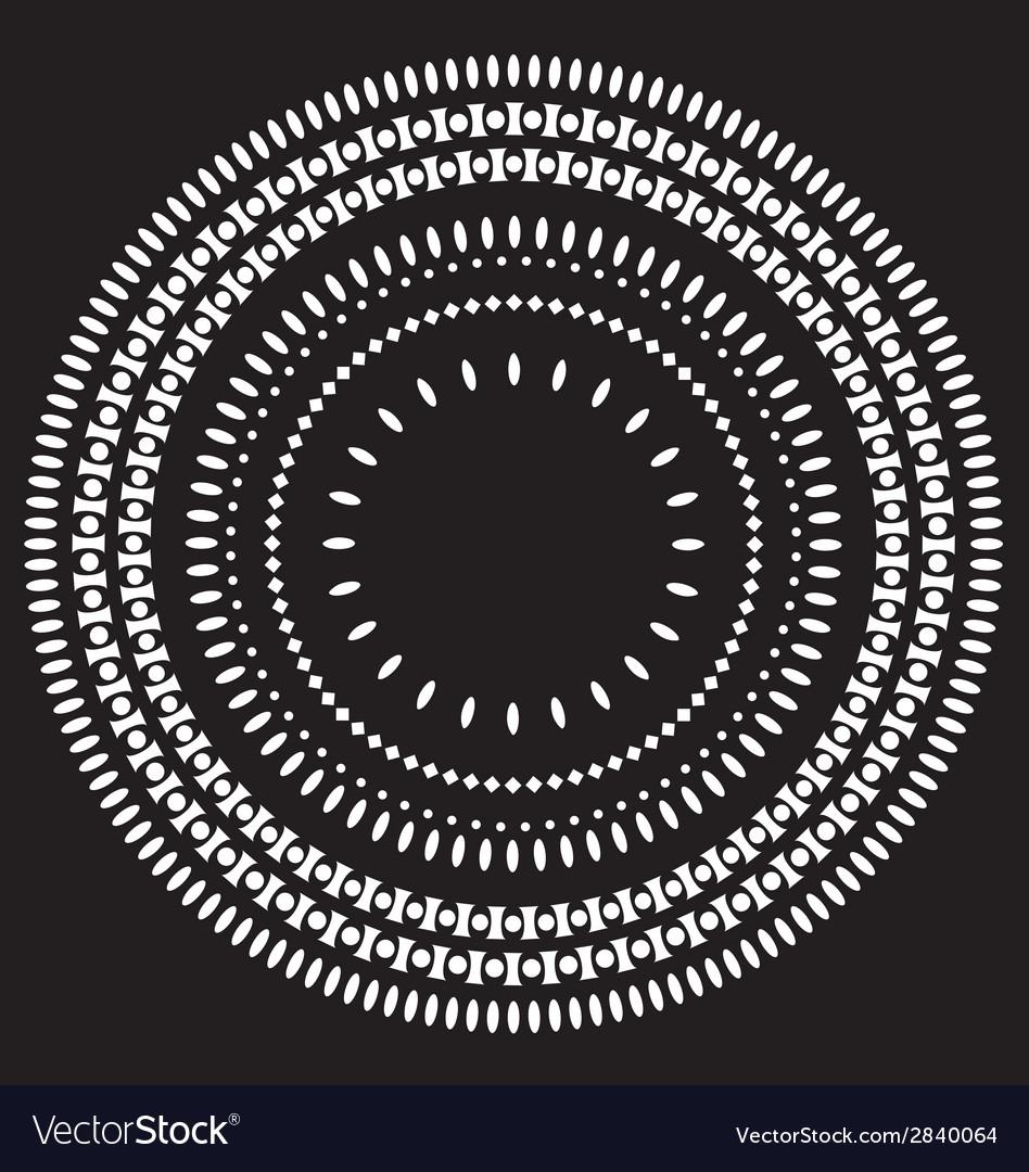 Circle pattern wallpaper vector | Price: 1 Credit (USD $1)