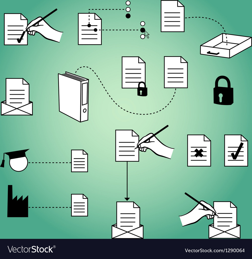 Document infographic elements vector | Price: 1 Credit (USD $1)