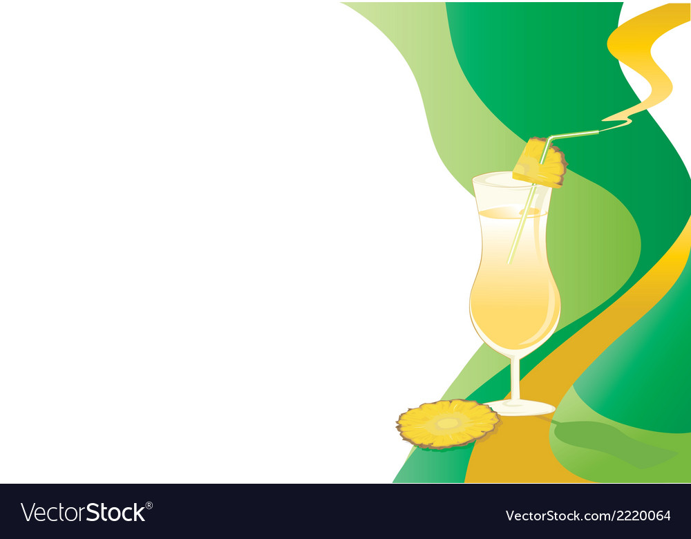 Drink card with ananas vector | Price: 1 Credit (USD $1)
