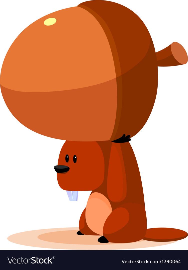 Icon squirrel and acorn vector   Price: 1 Credit (USD $1)