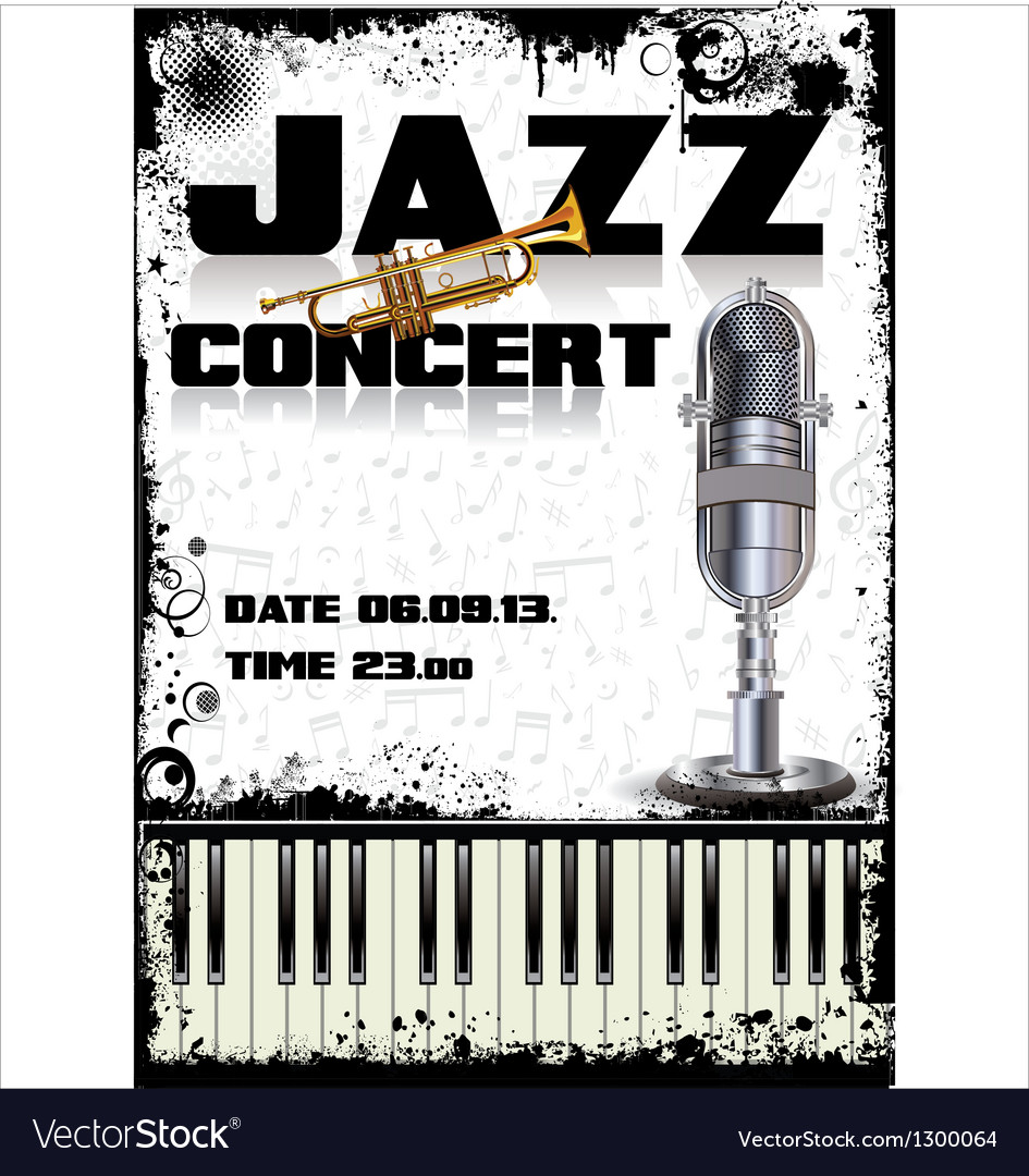 Jazz concert poster vector | Price: 3 Credit (USD $3)