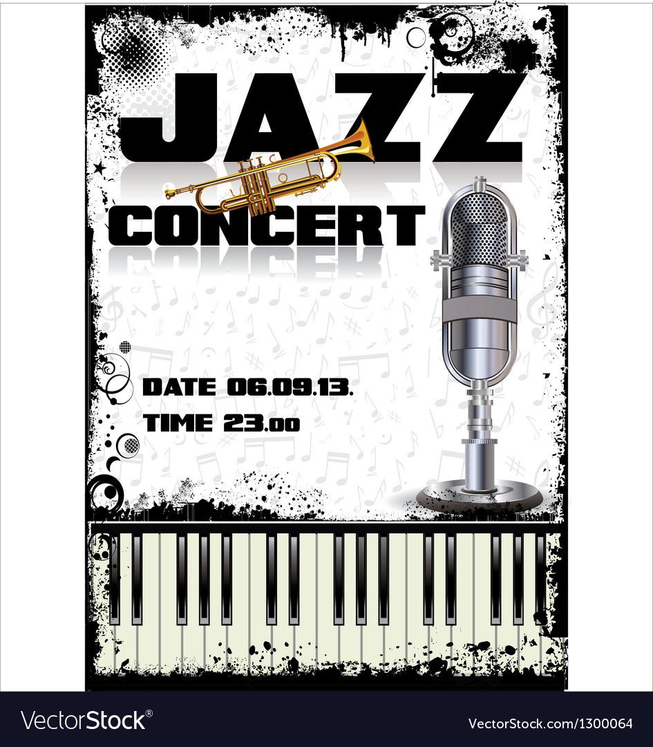 Jazz concert poster vector | Price: 3 Credit (USD $3)