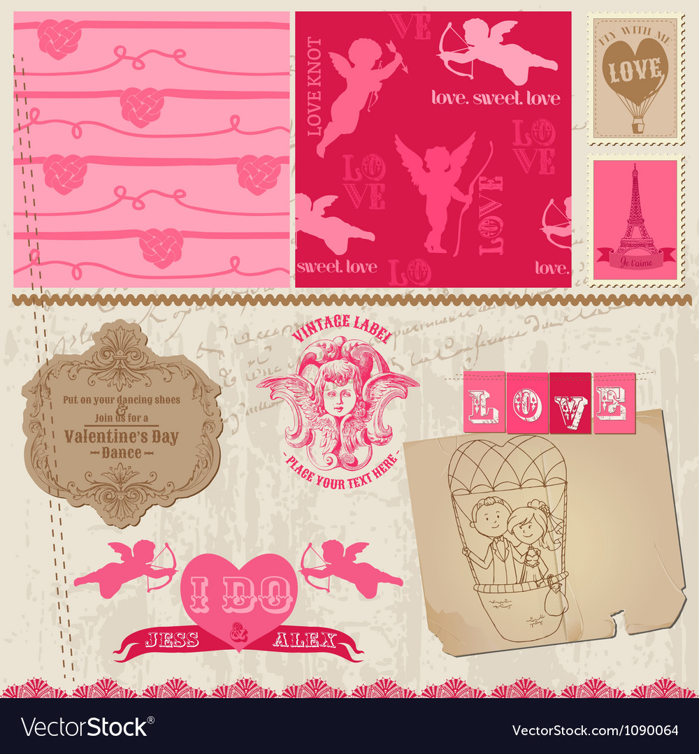 Love set of design elements vector | Price: 3 Credit (USD $3)