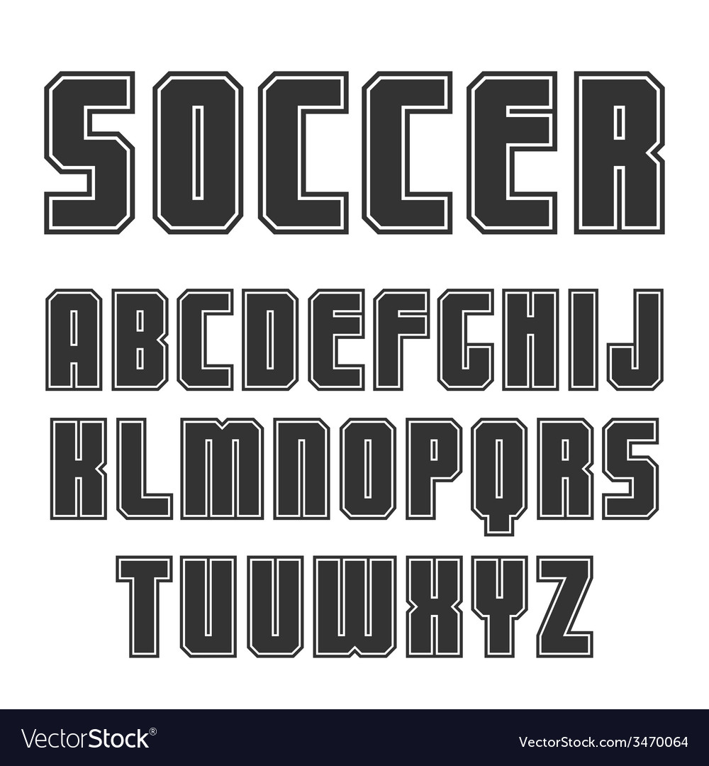 Sans serif font in sport style vector | Price: 1 Credit (USD $1)
