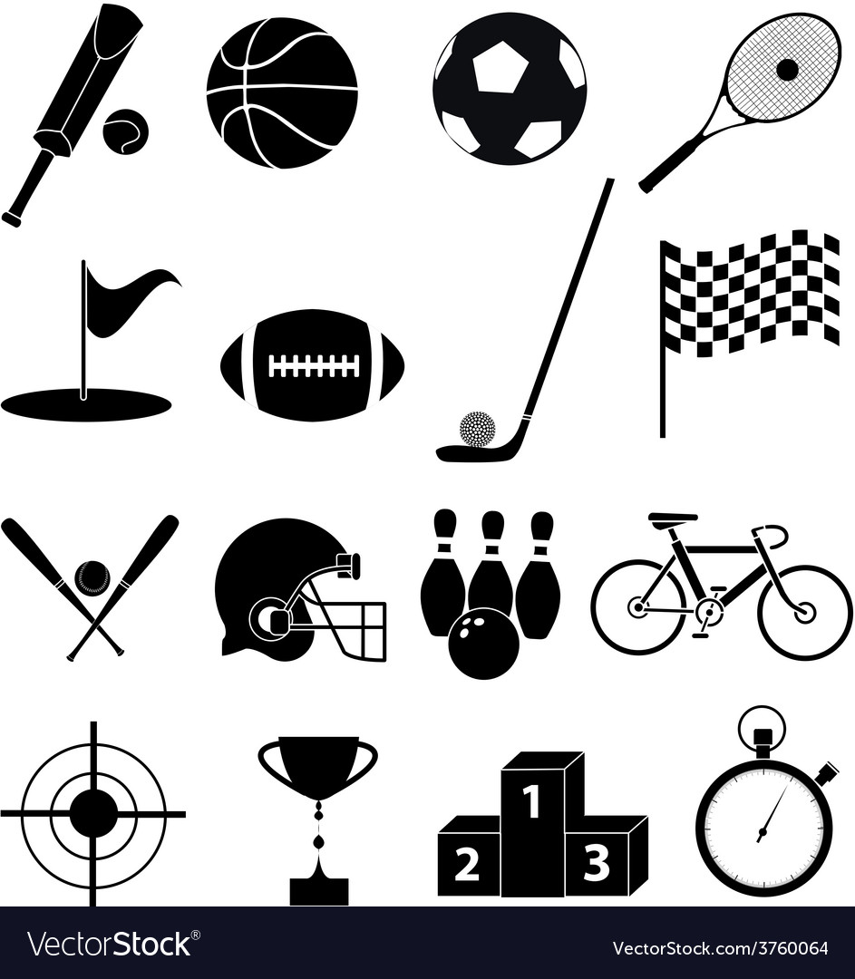 Sports icons set vector | Price: 3 Credit (USD $3)