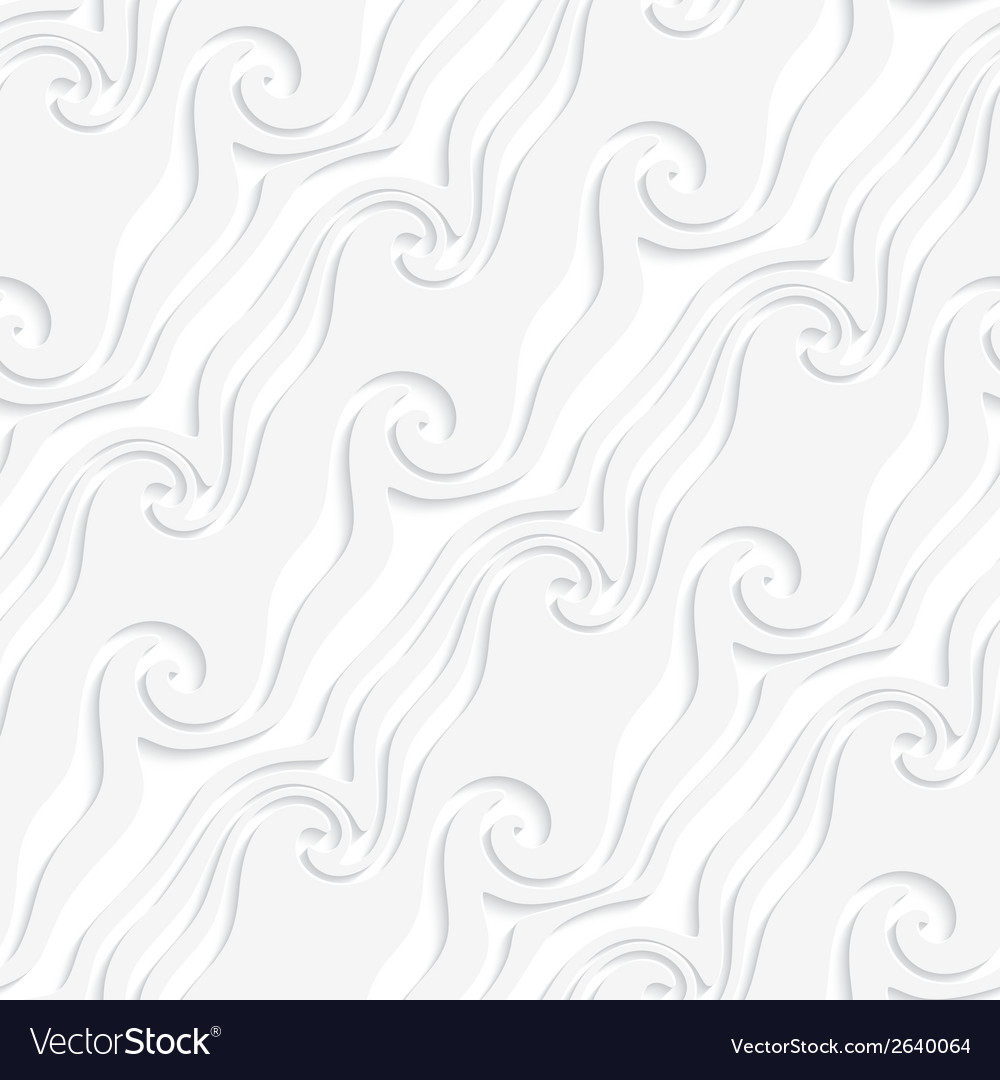 White curved lines and swirls perforated striped vector | Price: 1 Credit (USD $1)