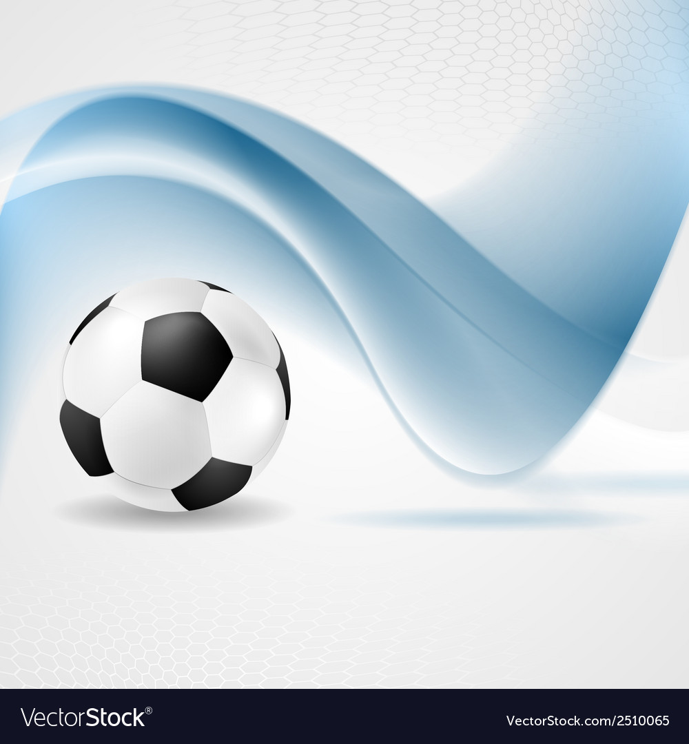 Abstract waves and football vector | Price: 1 Credit (USD $1)