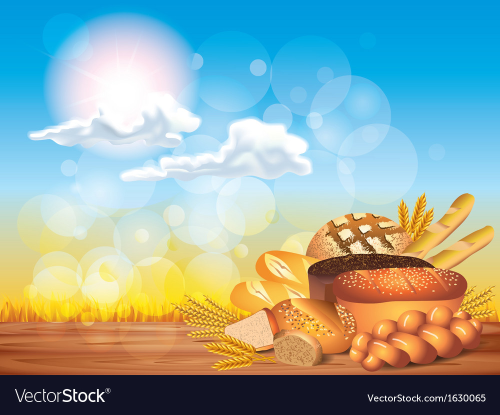 Breads sunny background vector | Price: 1 Credit (USD $1)