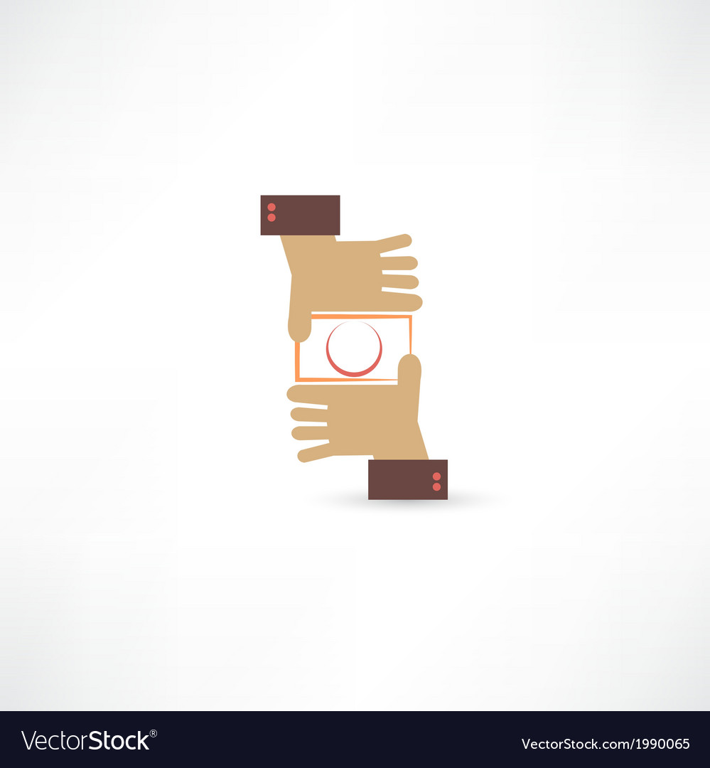 Camera hands icon vector | Price: 1 Credit (USD $1)