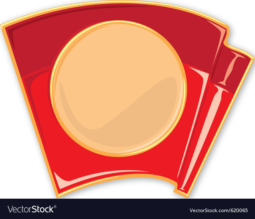 Porcelain enamel red flag vector | Price: 1 Credit (USD $1)