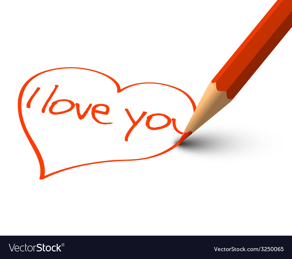 Red heart - i love you card vector | Price: 1 Credit (USD $1)