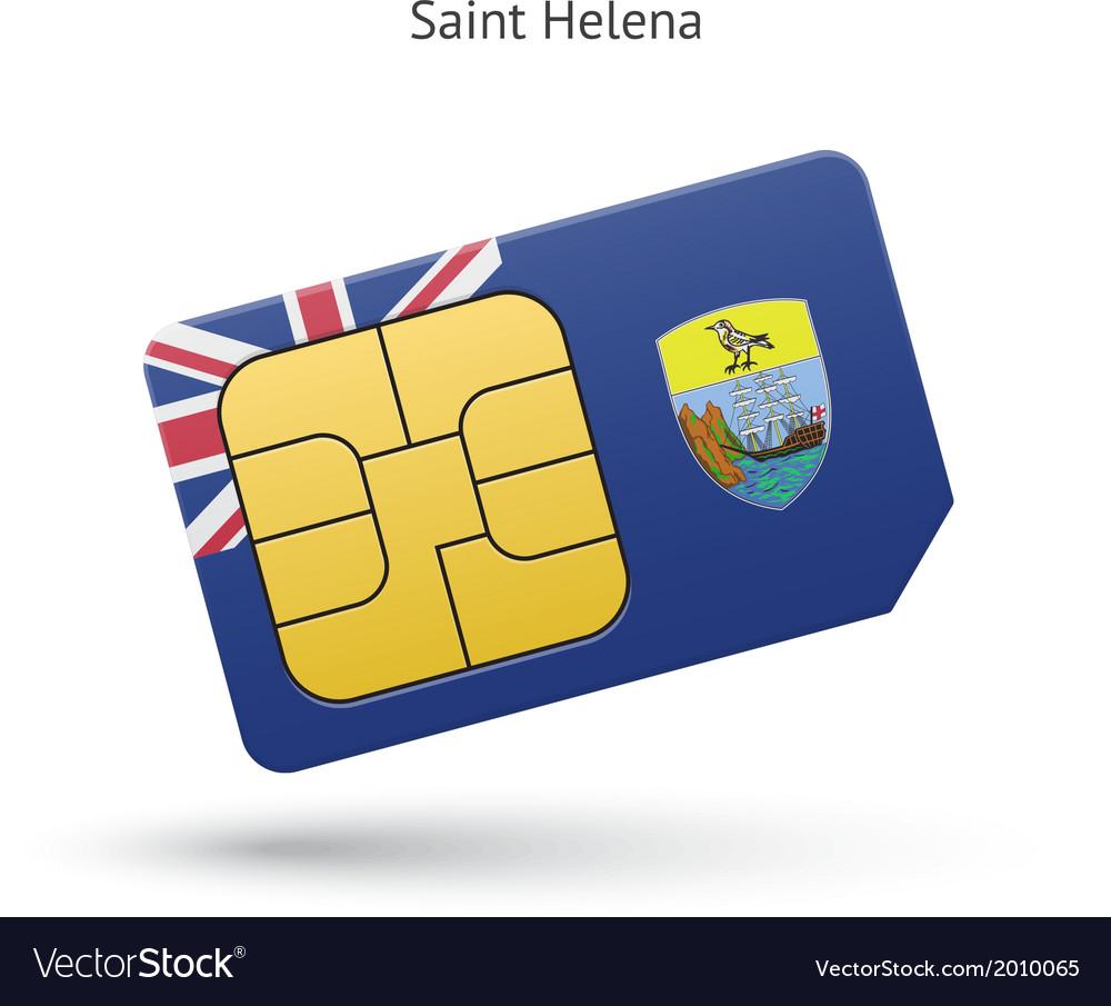 Saint helena mobile phone sim card with flag vector | Price: 1 Credit (USD $1)