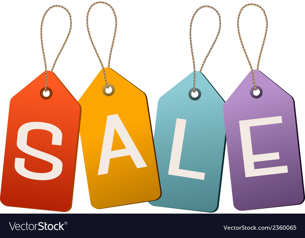 Sale tags concept of discount shopping vector | Price: 1 Credit (USD $1)