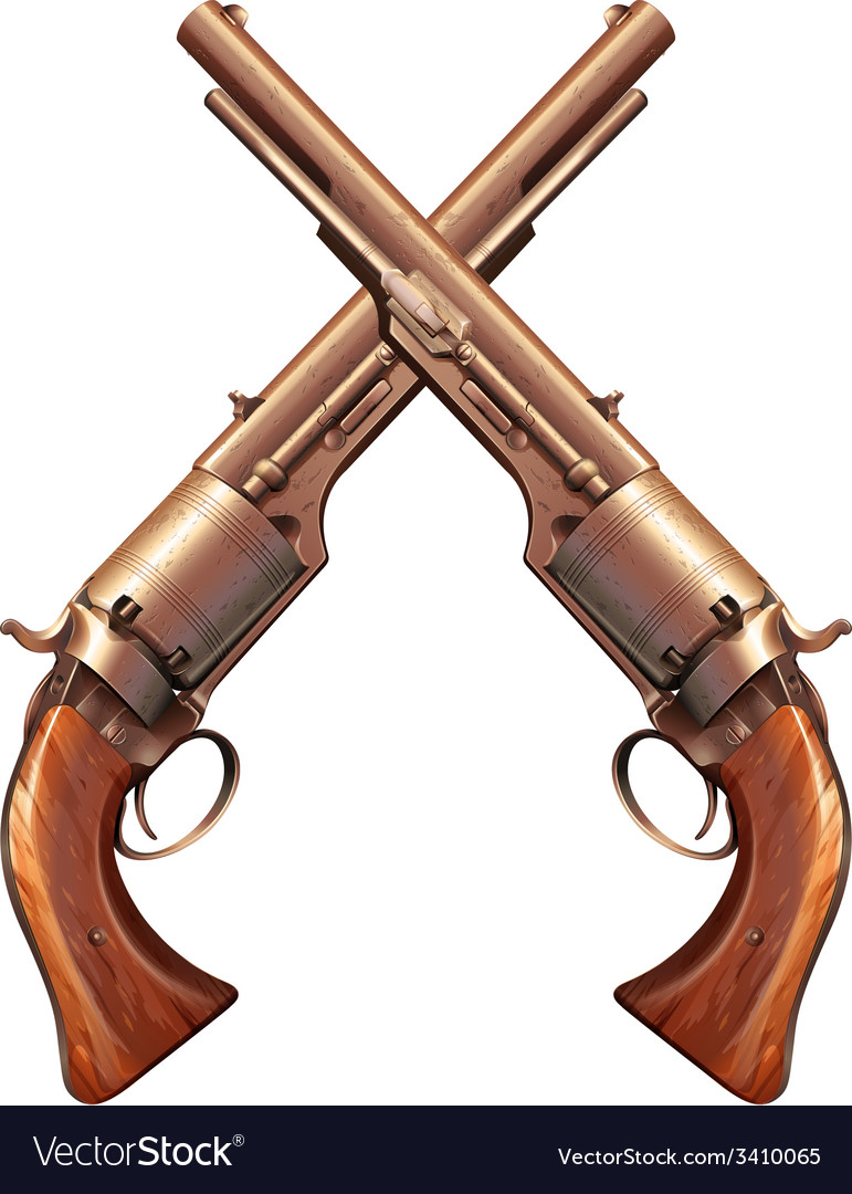 Two guns vector | Price: 1 Credit (USD $1)
