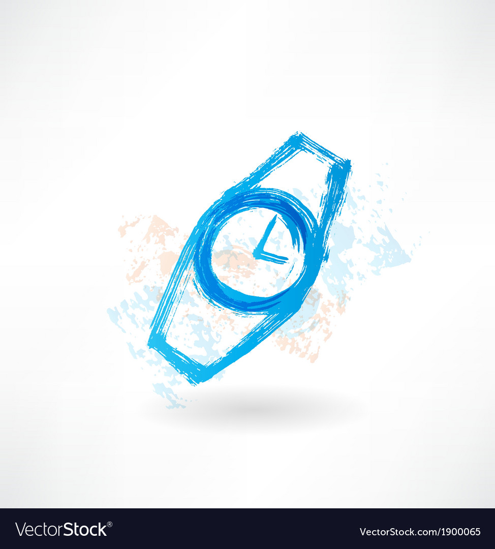 Watches grunge icon vector | Price: 1 Credit (USD $1)