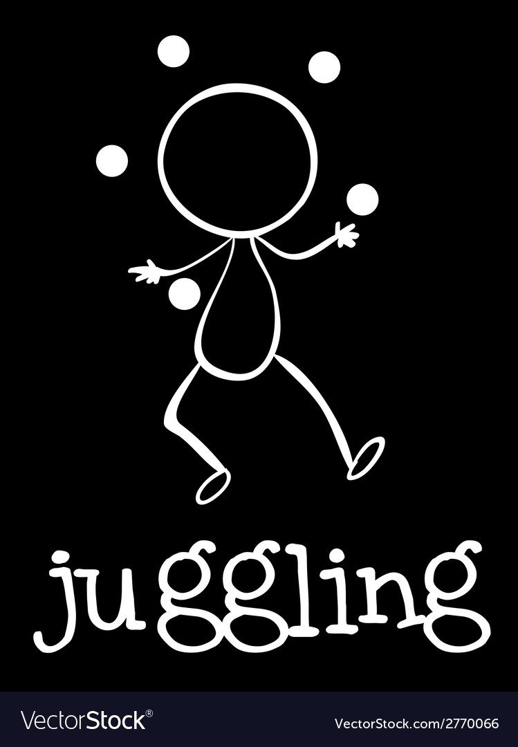 A man juggling vector | Price: 1 Credit (USD $1)