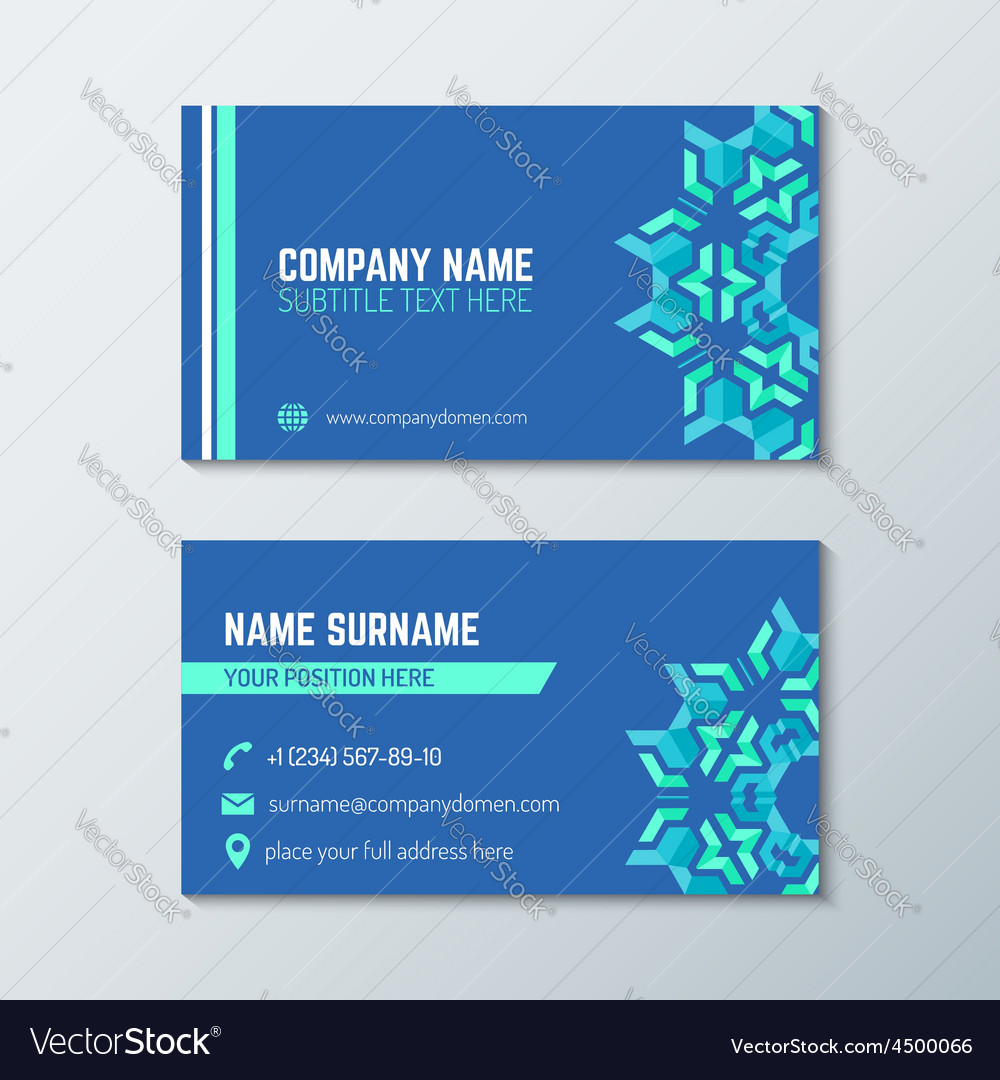 Blue green abstract business card template vector | Price: 1 Credit (USD $1)