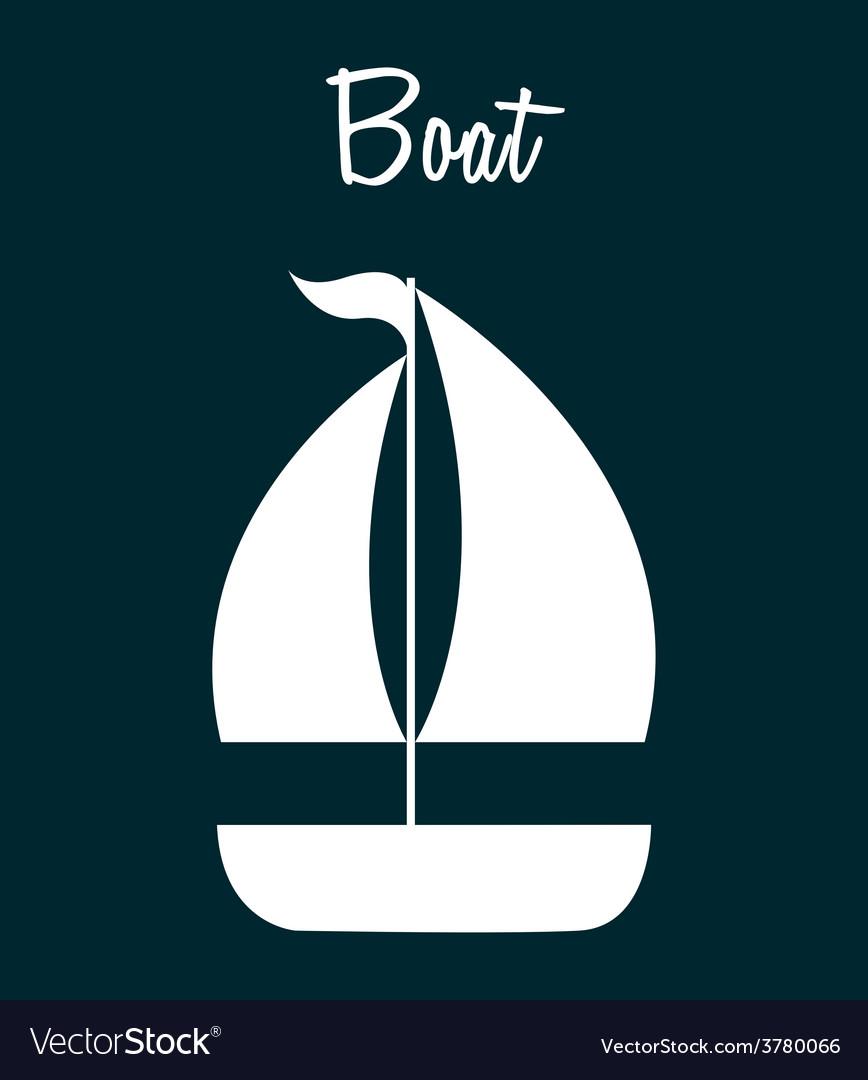 Boat icon vector   Price: 1 Credit (USD $1)