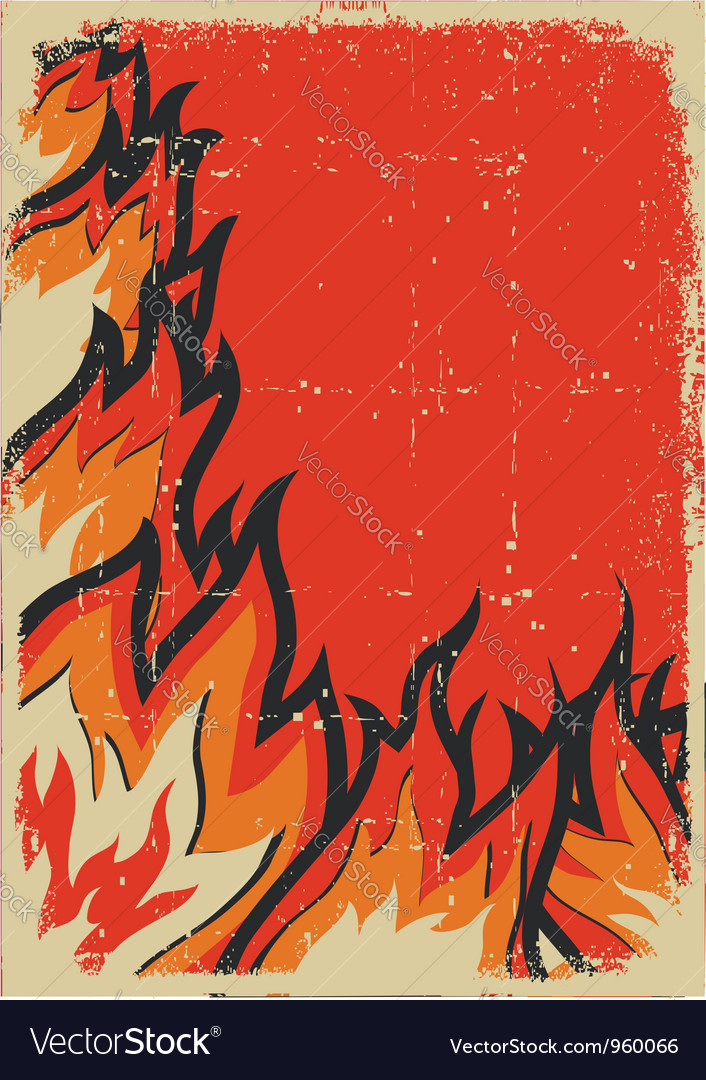 Grunge fire background vector | Price: 1 Credit (USD $1)