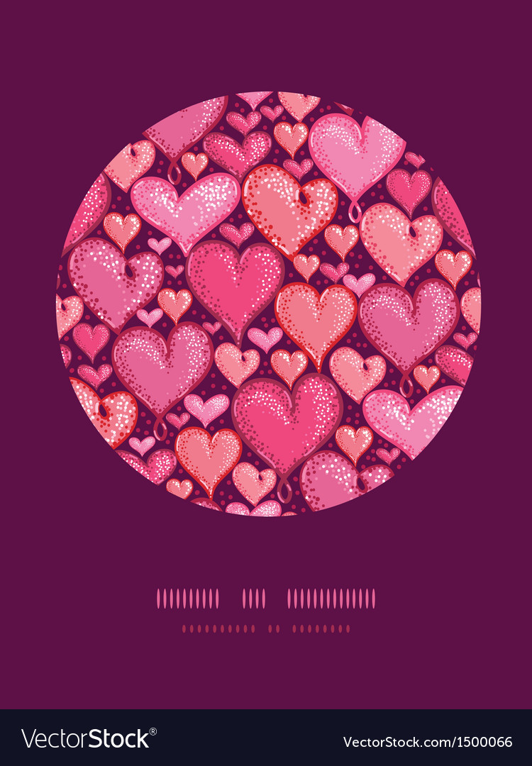 Red valentines day hearts circle decor pattern vector | Price: 1 Credit (USD $1)