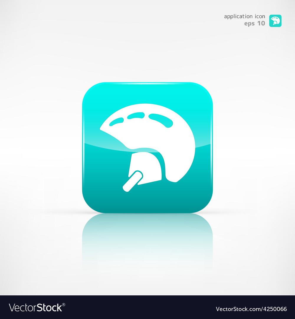 Skiing helmet icon vector | Price: 1 Credit (USD $1)