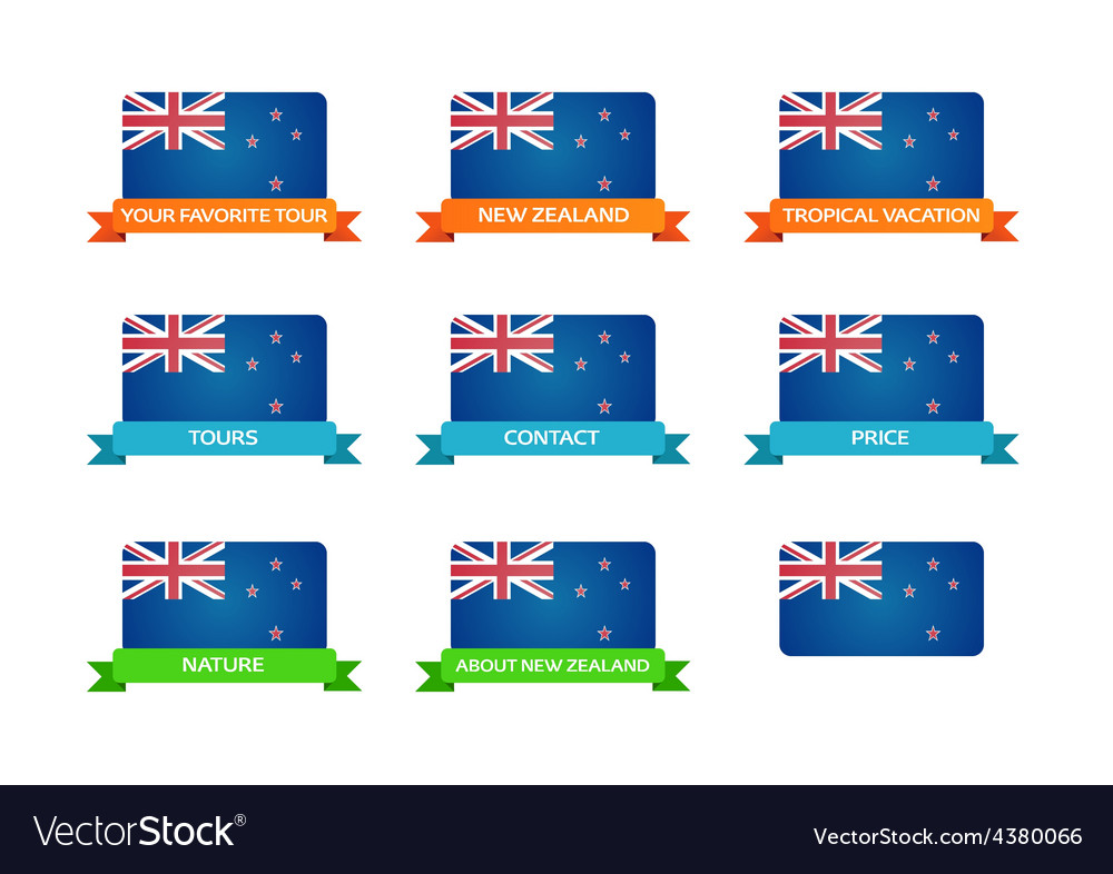 Tour to new zealand vector | Price: 1 Credit (USD $1)