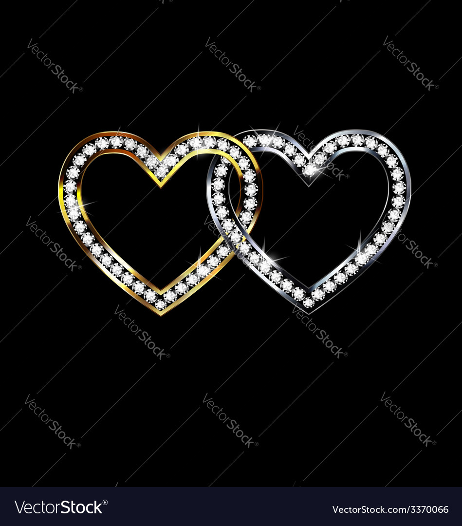 Two jewelry hearts vector | Price: 1 Credit (USD $1)