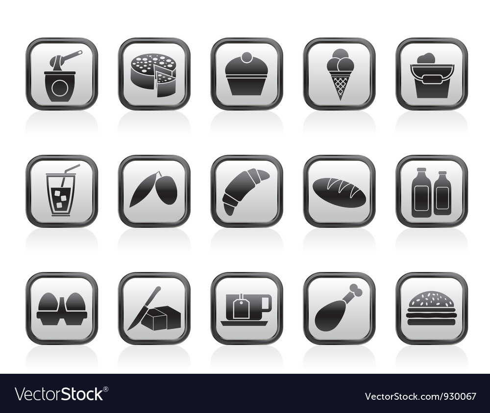 Dairy products - food and drink icons vector | Price: 1 Credit (USD $1)
