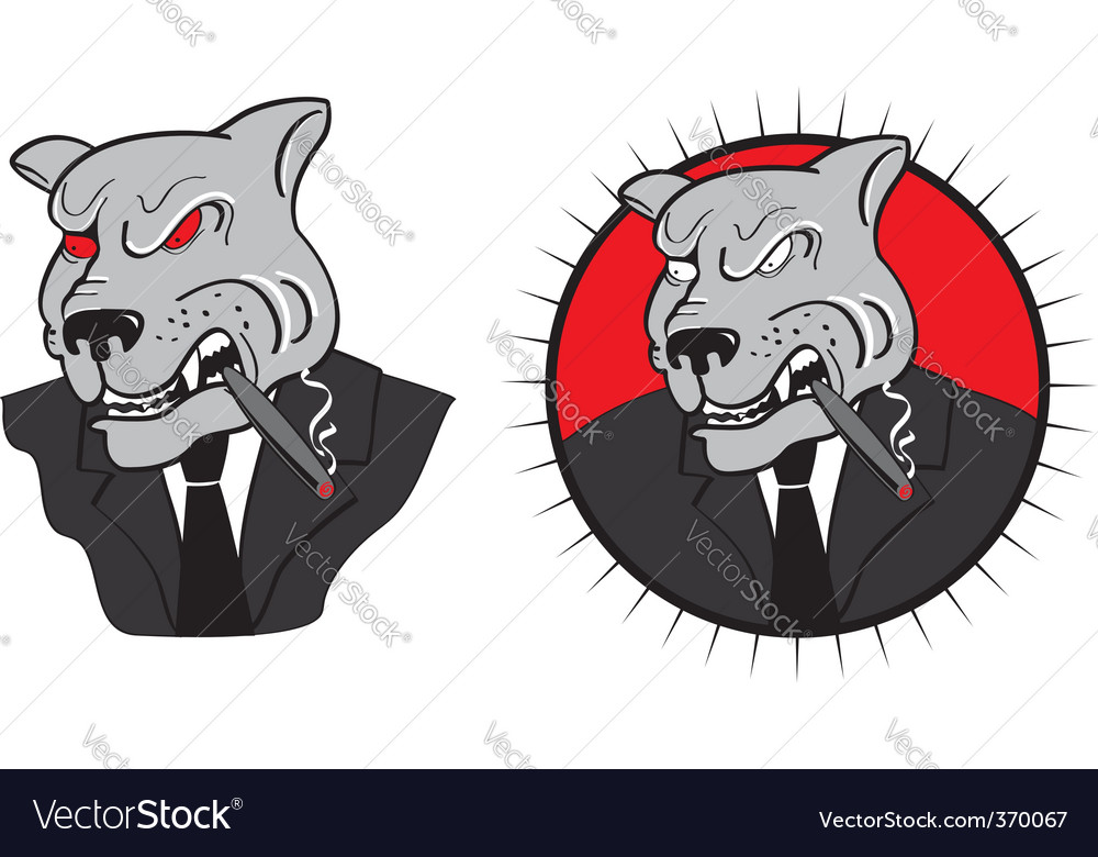 Evil dog boss vector | Price: 3 Credit (USD $3)
