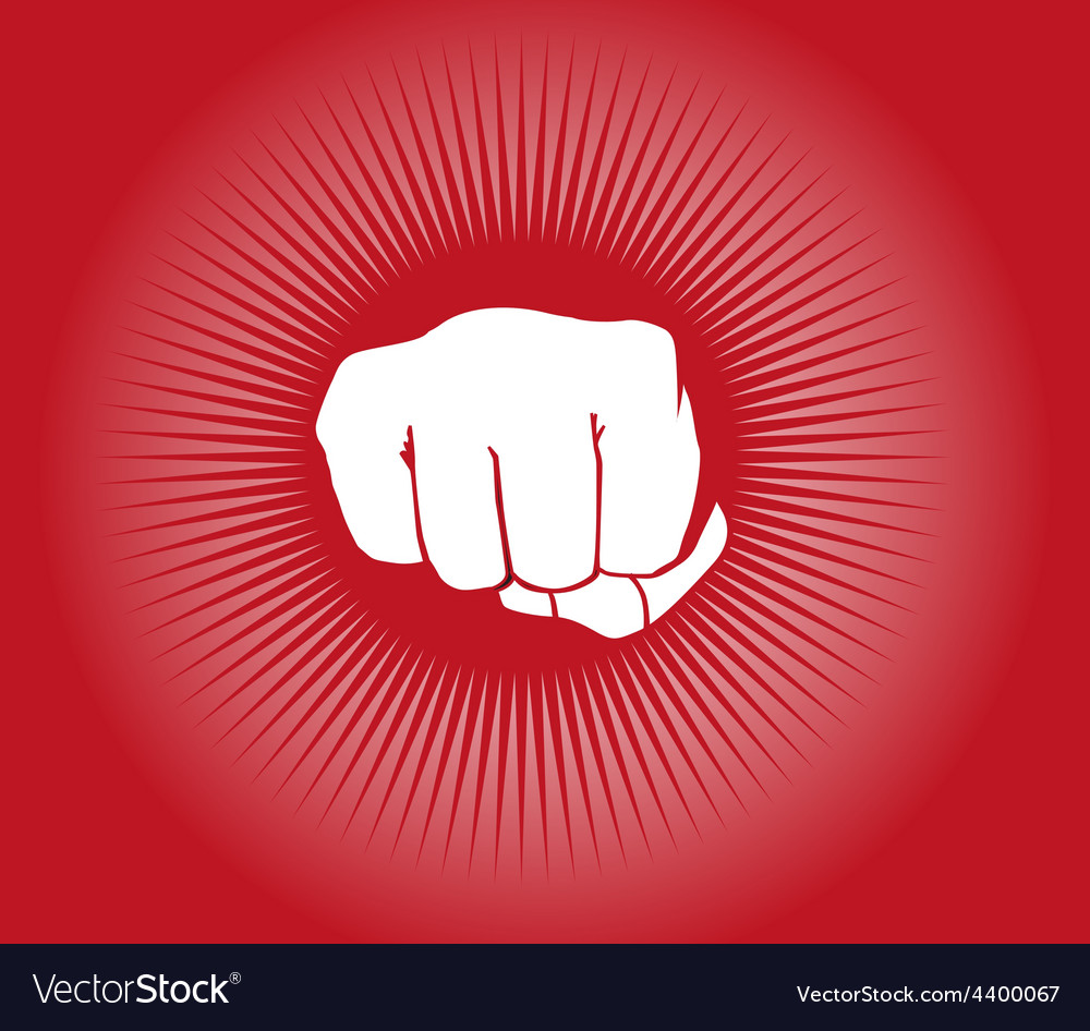 Fist power punch background vector | Price: 3 Credit (USD $3)