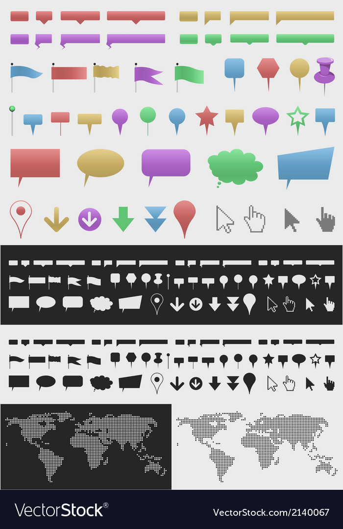 Infographic pointer set vector   Price: 1 Credit (USD $1)