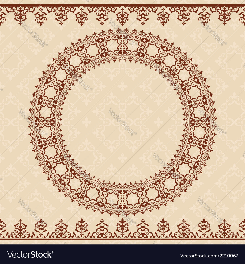Light beige background with brown ornament vector | Price: 1 Credit (USD $1)