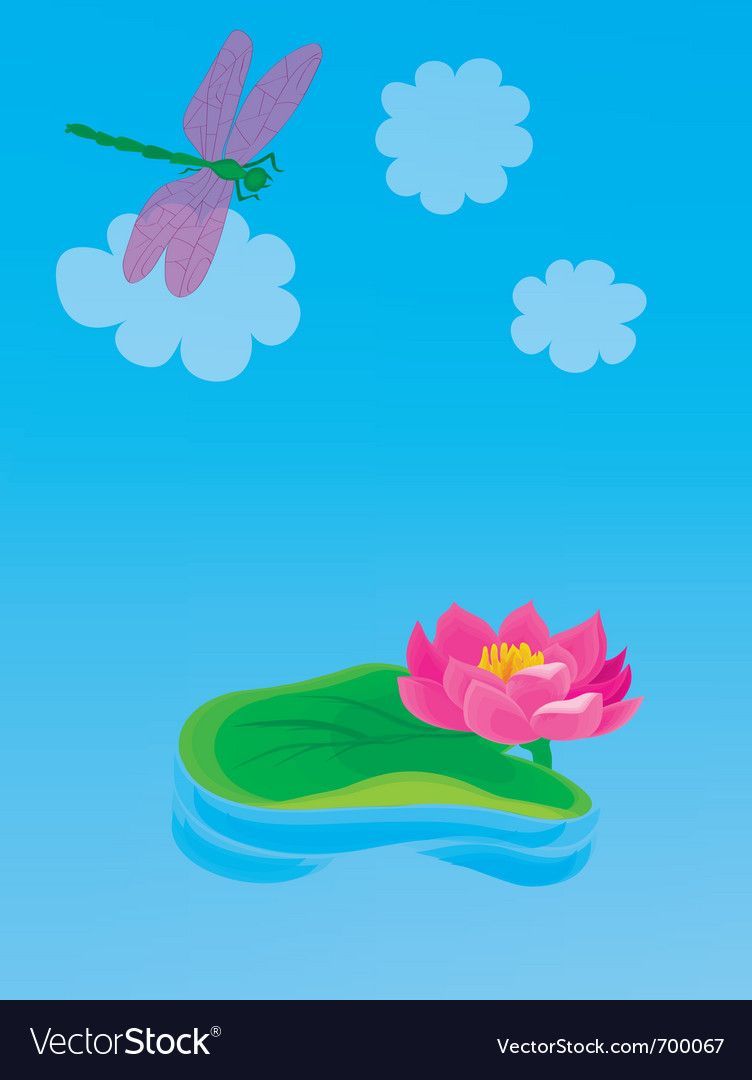 Lily pond vector | Price: 1 Credit (USD $1)
