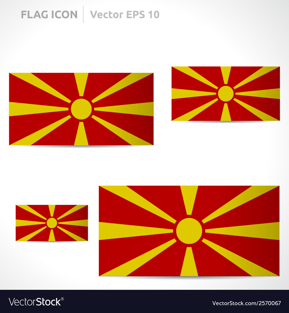 Macedonia flag template vector | Price: 1 Credit (USD $1)
