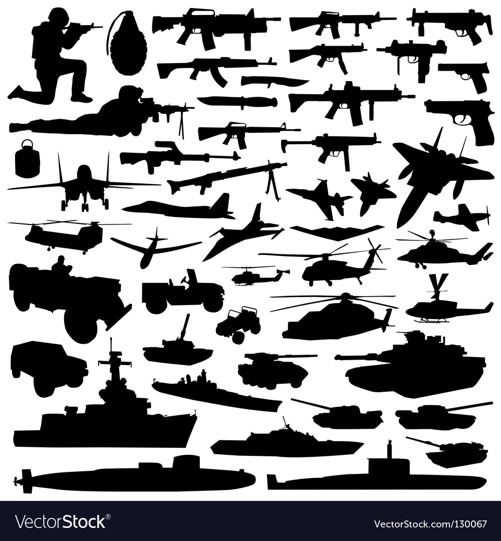 Military objects vector | Price: 1 Credit (USD $1)