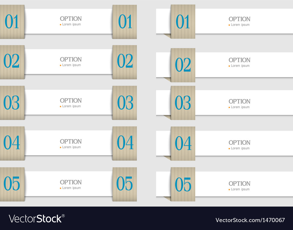 Paper design templates banners for infographics vector | Price: 1 Credit (USD $1)