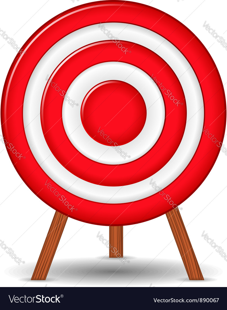 Red target vector | Price: 1 Credit (USD $1)