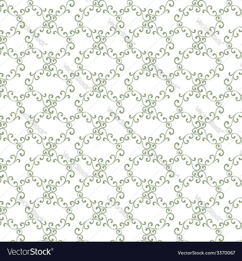 Seamless curly vintage background wallpaper vector | Price: 1 Credit (USD $1)
