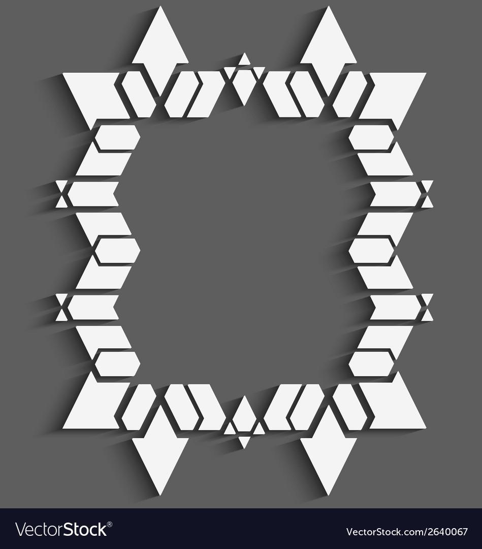 White geometrical frame vector | Price: 1 Credit (USD $1)