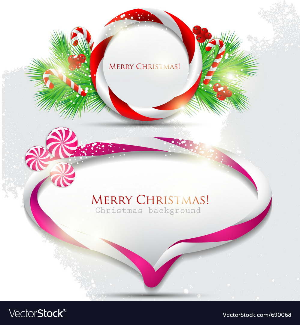 Abstract glossy speech bubble with christmas candy vector | Price: 3 Credit (USD $3)
