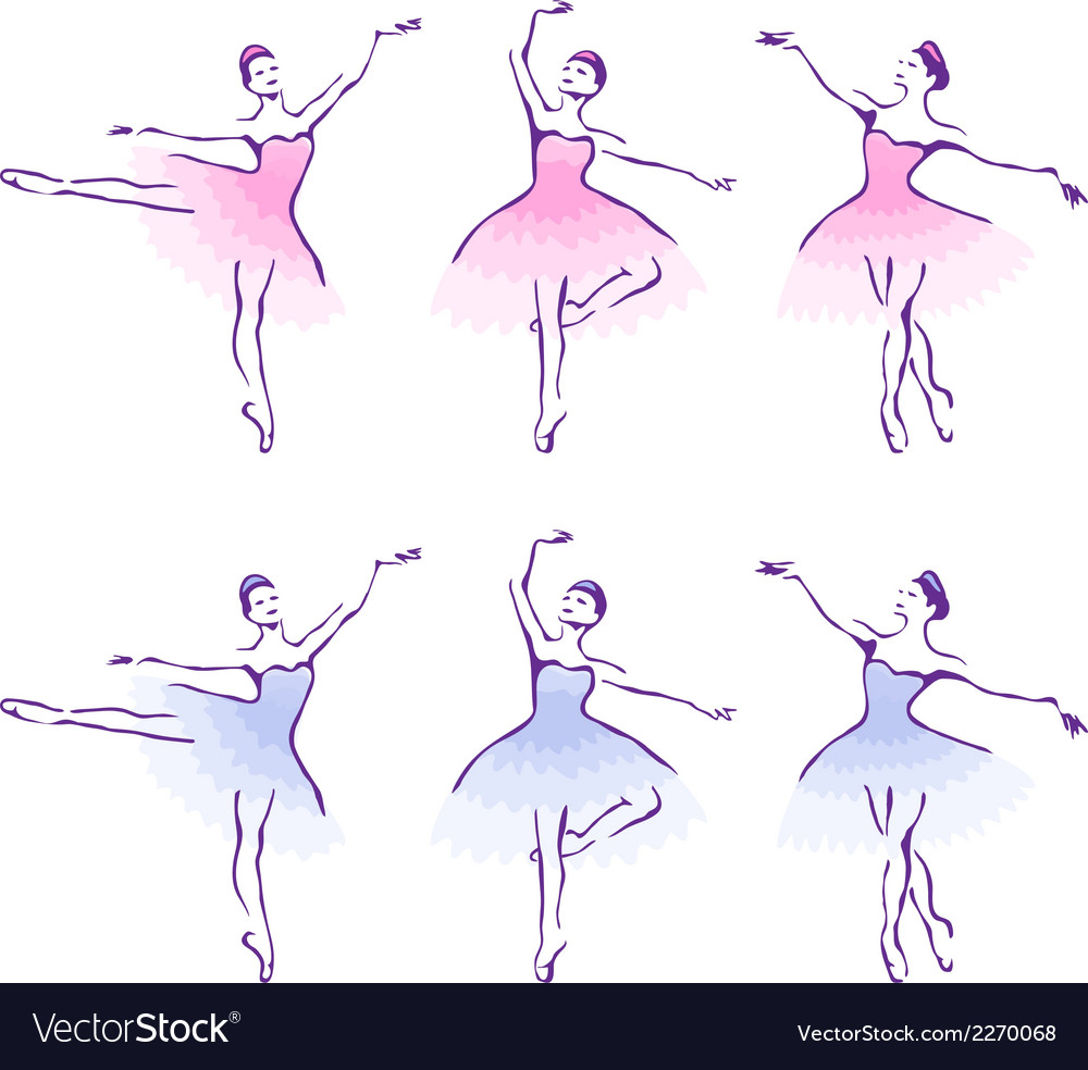 Ballet woman-dancers vector | Price: 1 Credit (USD $1)