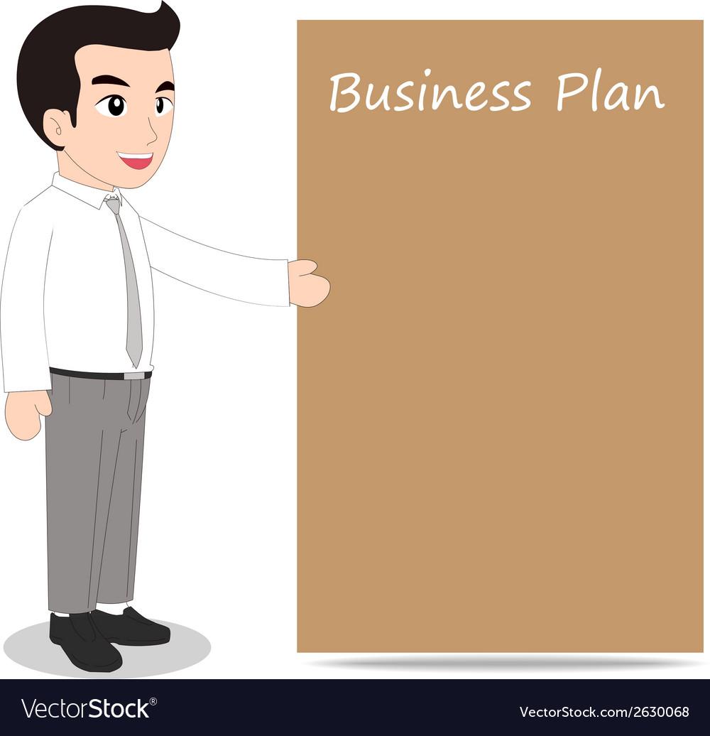 Businessman blank message board vector   Price: 1 Credit (USD $1)