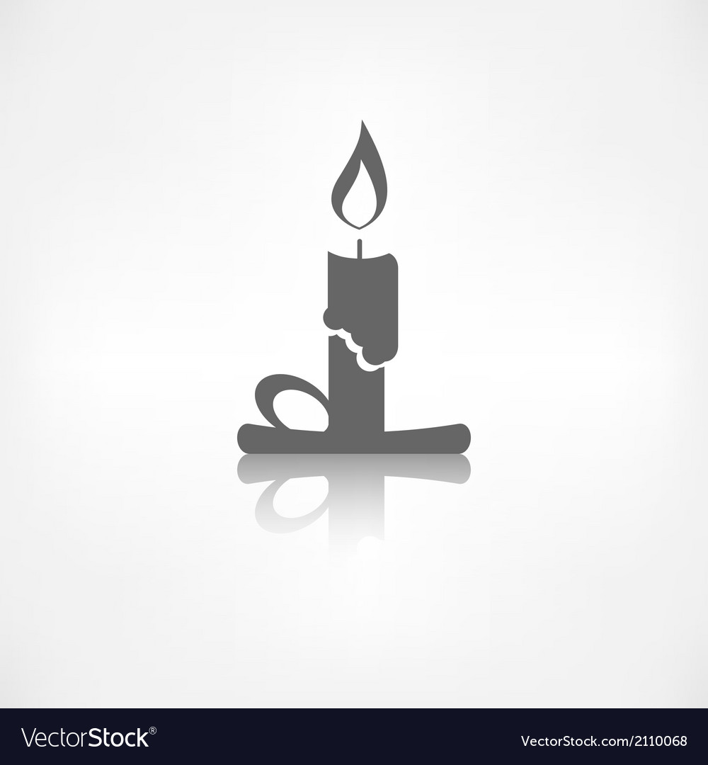 Candle web icon vector | Price: 1 Credit (USD $1)