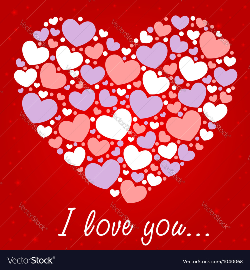 Cute valentine love congratulation card vector | Price: 1 Credit (USD $1)