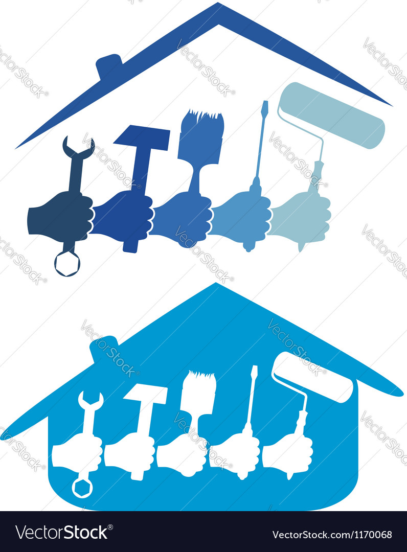 Design home repair vector | Price: 1 Credit (USD $1)