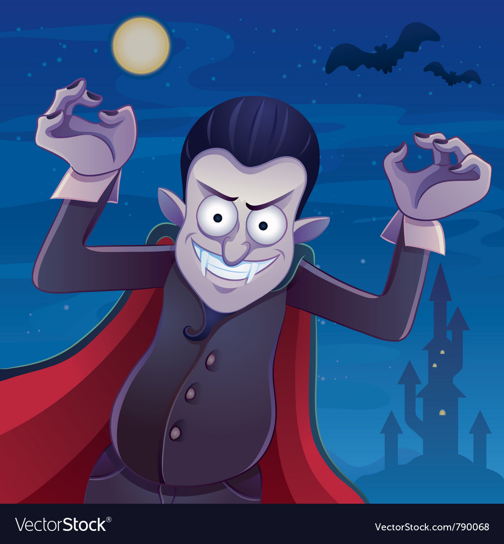 Dracula cartoon vector | Price: 5 Credit (USD $5)