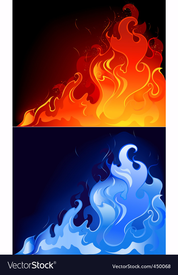 Gas flames vector | Price: 3 Credit (USD $3)