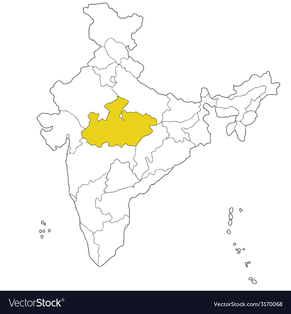 Madhya pradesh vector | Price: 1 Credit (USD $1)