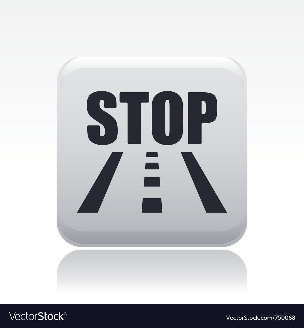 Road stop icon vector | Price: 1 Credit (USD $1)